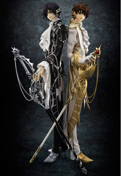 Code Geass: Lelouch Of The Rebellion R2: Lelouch Lamperouge & Kururugi Suzaku (Complete Figure)