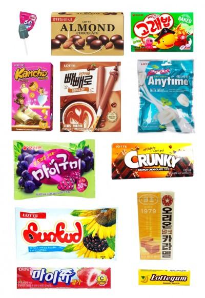 Коробка корейских сладостей LOTTE BOX